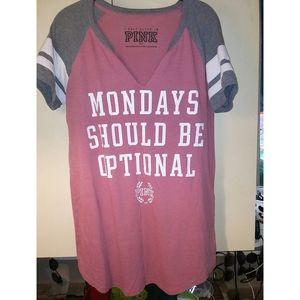 Victoria's Secret Pink Graphic T-shirt- Size M